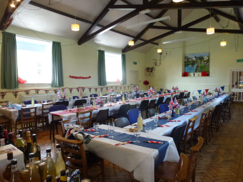 The Village Hall, ready for action!
