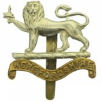 Herefordshire Regiment Cap Badge